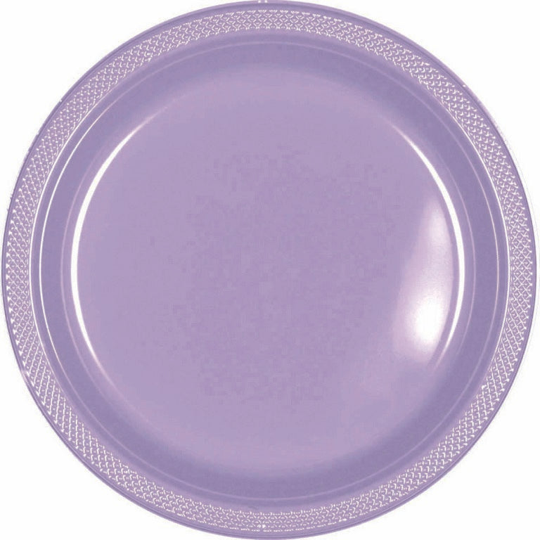 Gold Plastic Snack Plates 18cm 20pk - Party Savers
