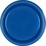 Royal Blue Plastic Snack Plates 18cm 20pk - Party Savers