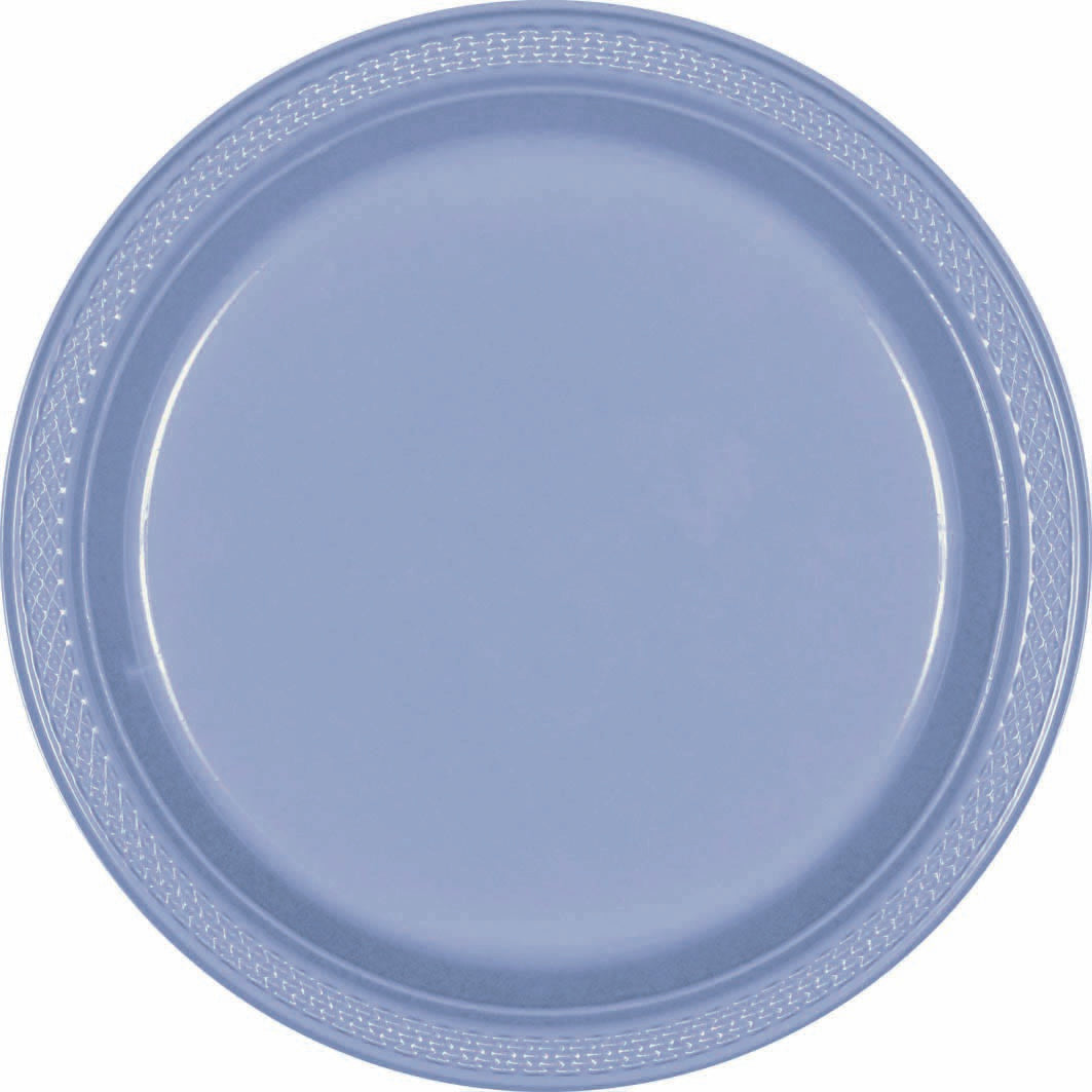 Silver Plastic Snack Plates 18cm 20pk - Party Savers