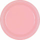 Pastel Pink Plastic Snack Plates 18cm 20pk - Party Savers