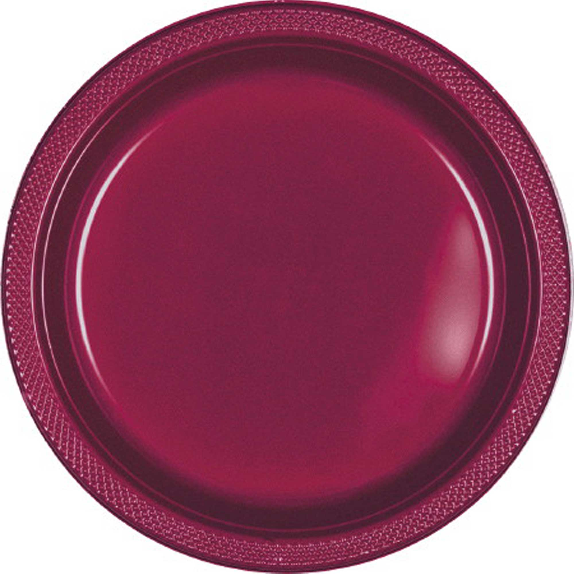 Bright Pink Plastic Snack Plates 18cm 20pk - Party Savers