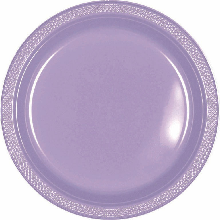Caribbean Blue Plastic Lunch Plates 23cm 20pk - Party Savers