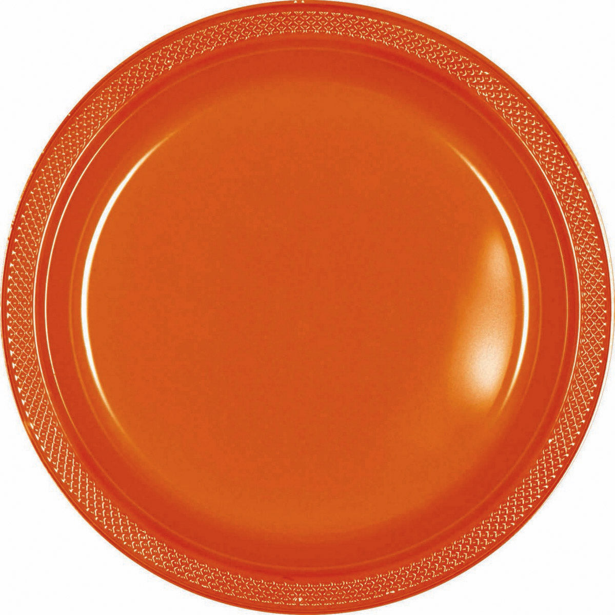 Orange Plastic Lunch Plates 23cm 20pk - Party Savers