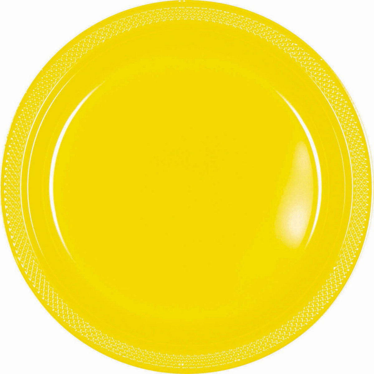 Bright Pink Plastic Lunch Plates 23cm 20pk - Party Savers
