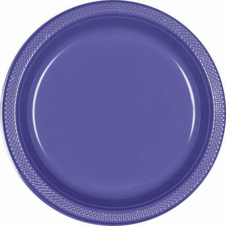 Purple Plastic Lunch Plates 23cm 20pk - Party Savers