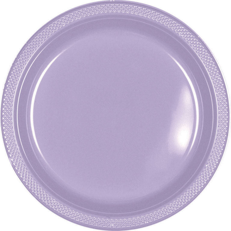 Lavender Plastic Banquet Plates 26cm 20pk - Party Savers