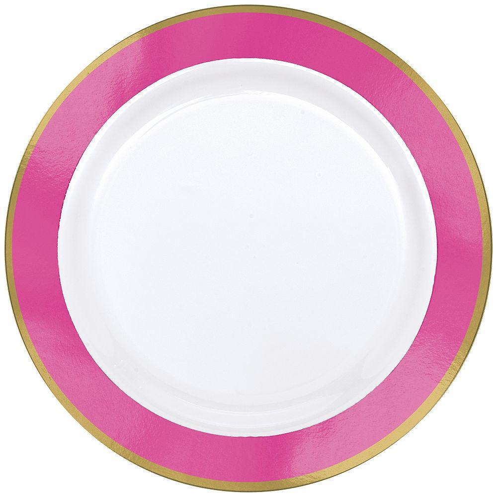 Pastel Pink Premium Plastic Lunch Plates 19cm 10pk - Party Savers
