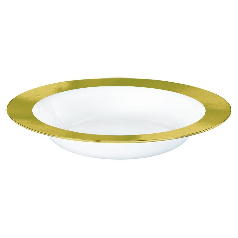 Gold Premium Plastic Bowl 354ml 10pk