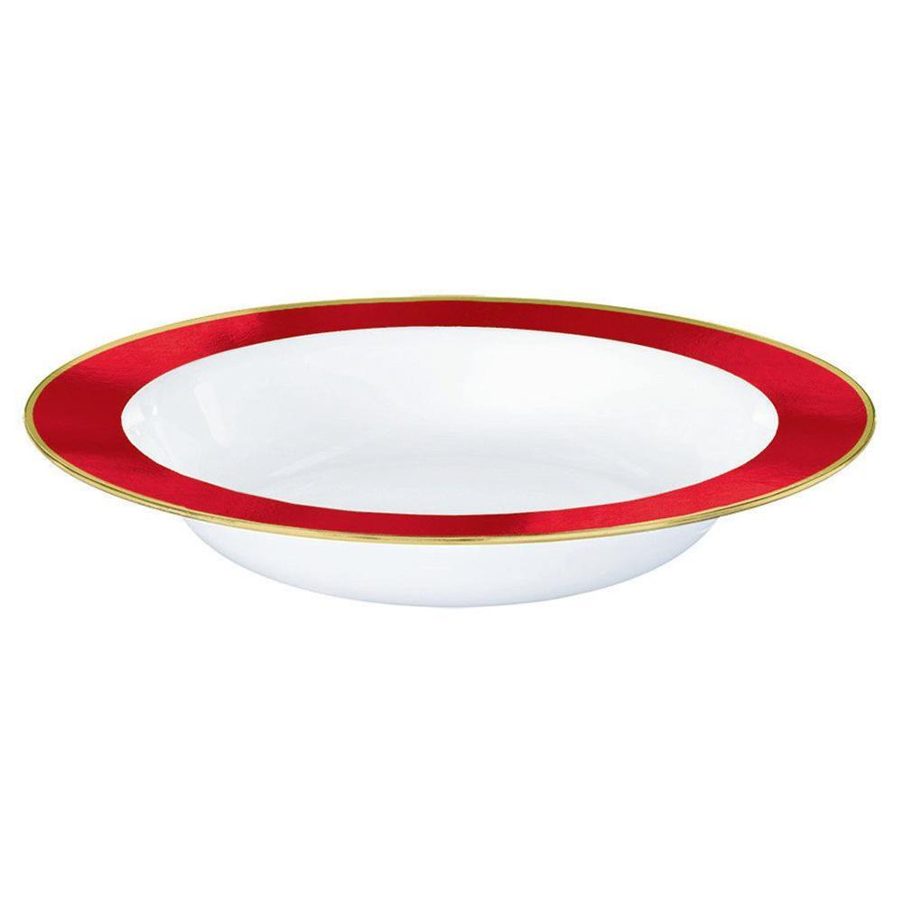 Red Premium Plastic Bowl 354ml 10pk