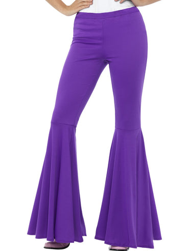 Womens Costume - Purple Flared Trousers