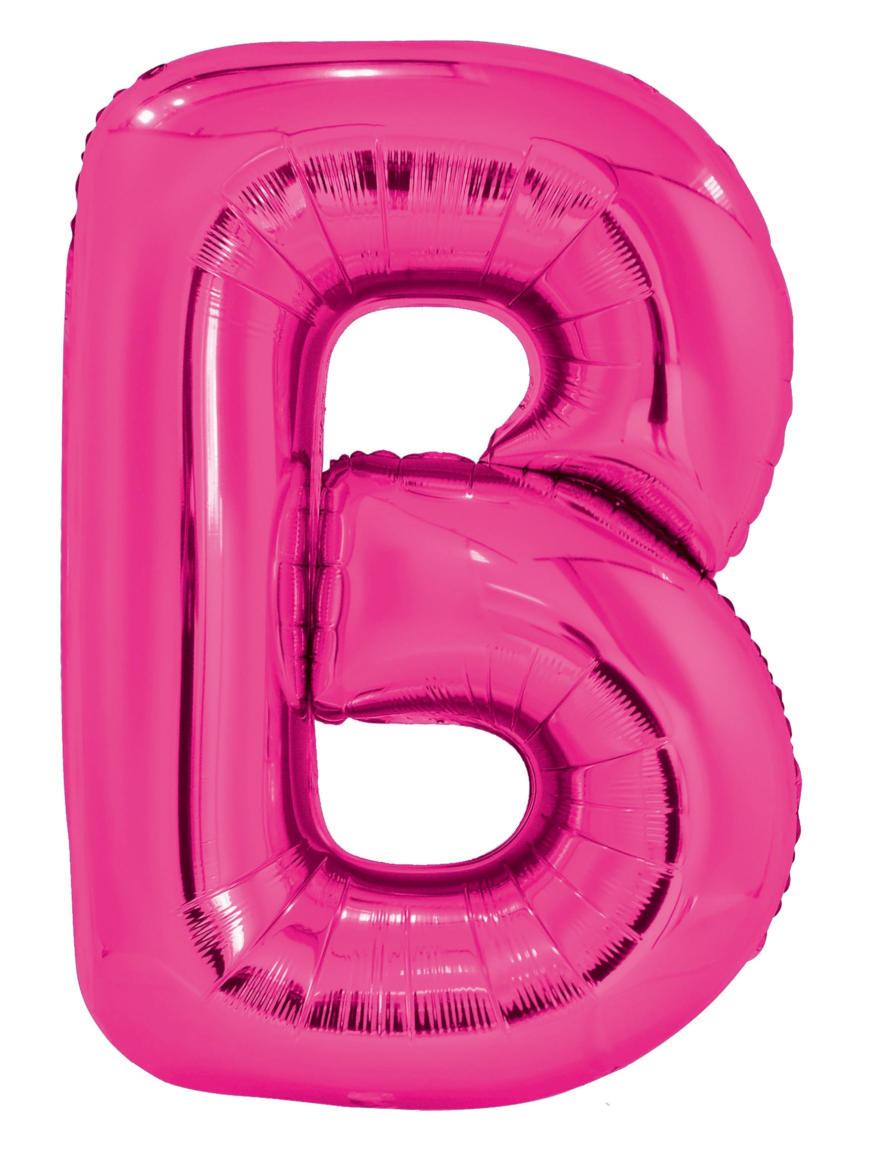 Letter B Bright Pink Foil Balloon 86cm - Party Savers