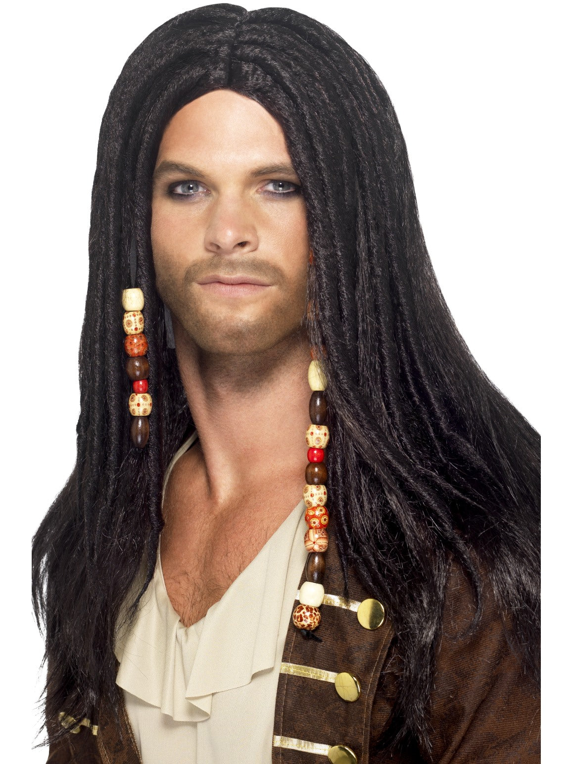 Black Pirate Wig - Party Savers