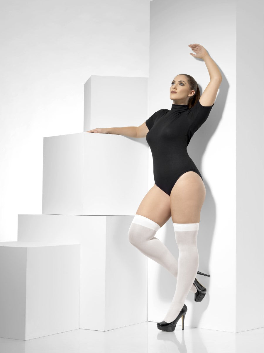 White Opaque Hold-Ups - Party Savers