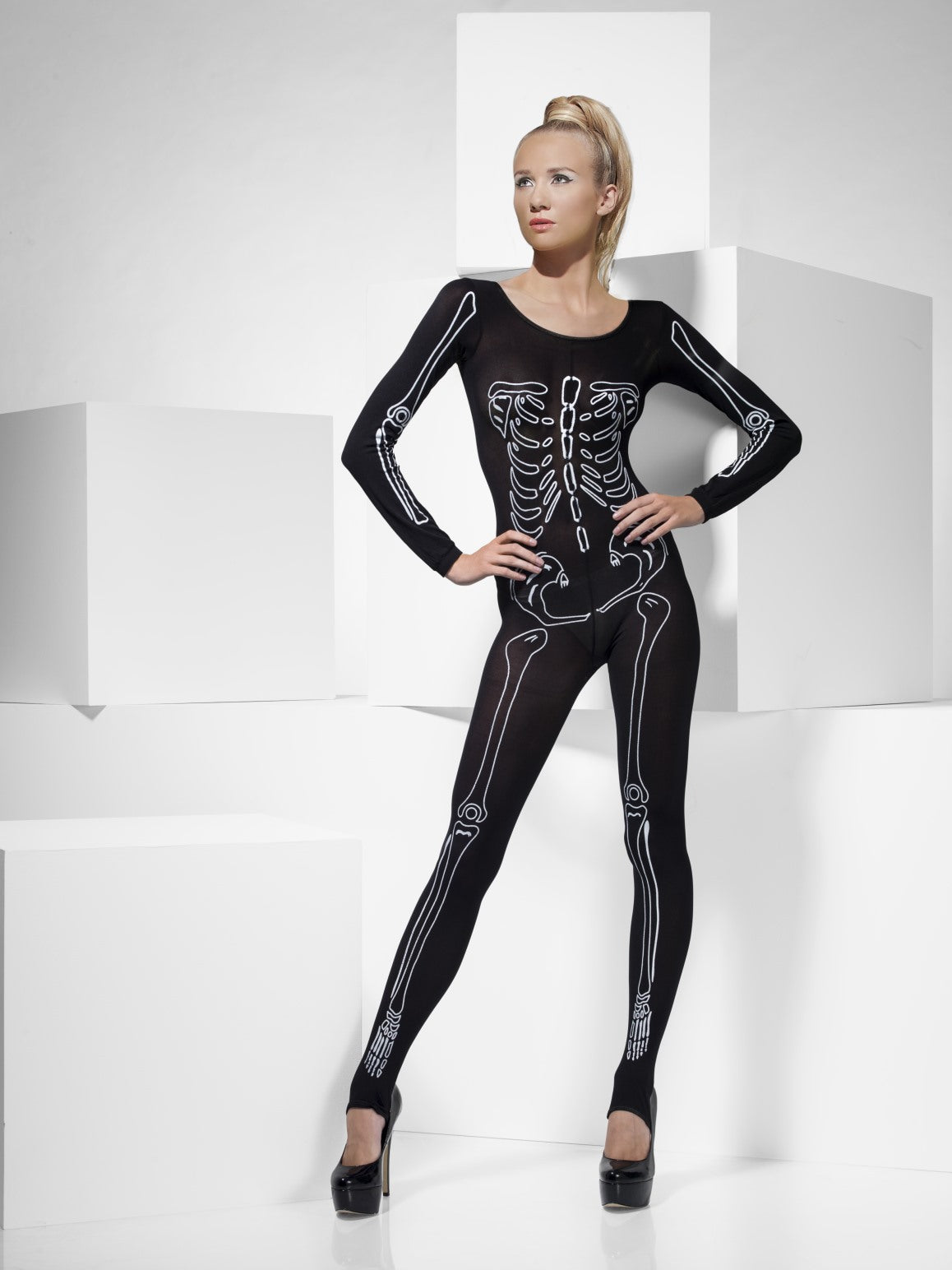 Women's Costume - Skeleton Print Bodysuit