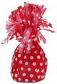 Red Dotty Balloon Weight - Party Savers