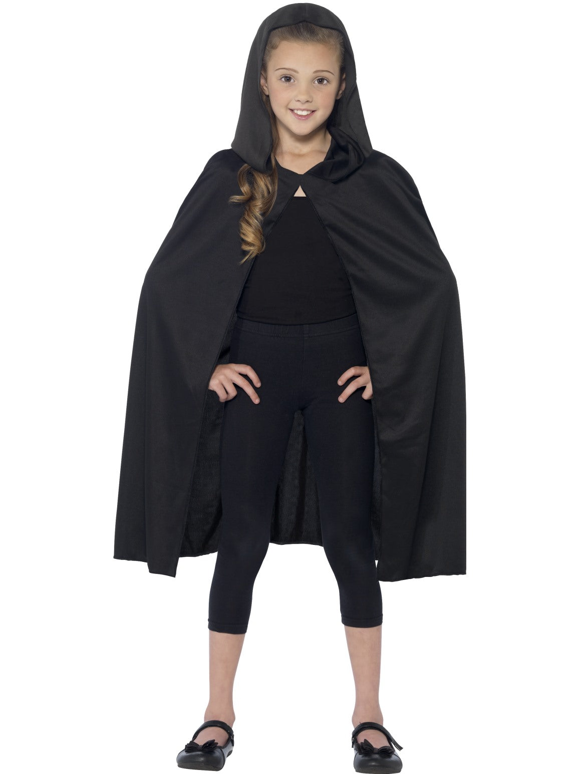 Black Hooded Cape - Party Savers