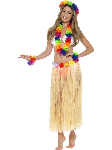 Multi Coloured Rainbow Hawaiian Set