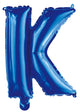Letter K Royal Blue Foil Balloon 35cm