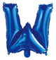 Letter W Royal Blue Foil Balloon 35cm