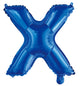Letter X Royal Blue Foil Balloon 35cm