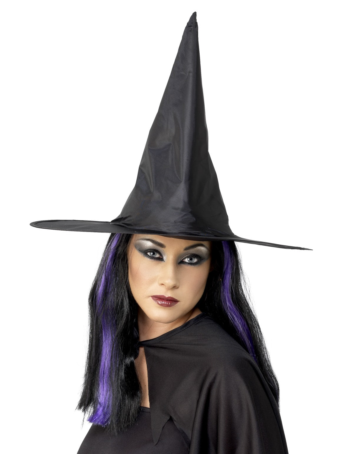 Black Witch Hat Wired - Party Savers