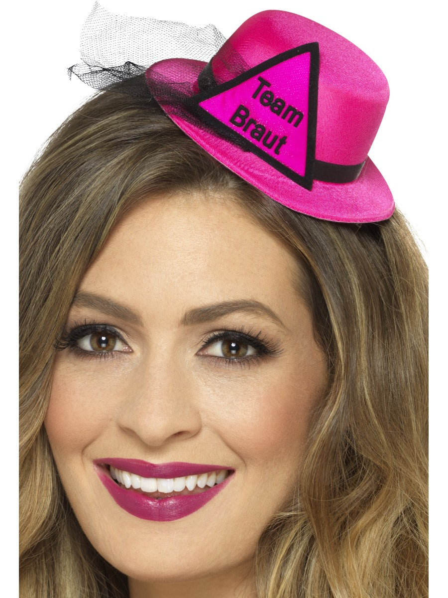 Pink Team Braut Hat - Party Savers