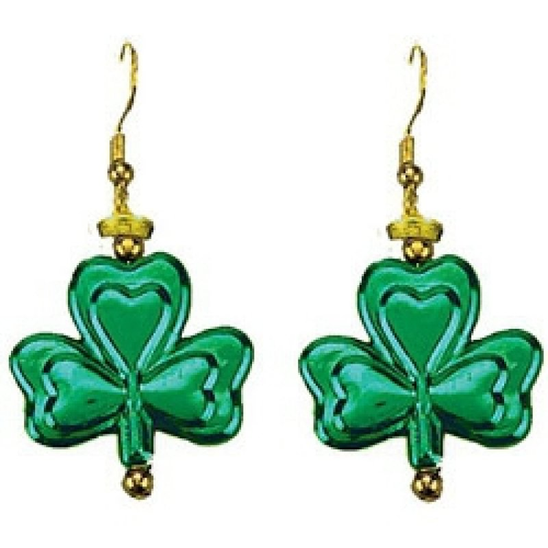 Shamrock Dangling Earings 2pk - Party Savers