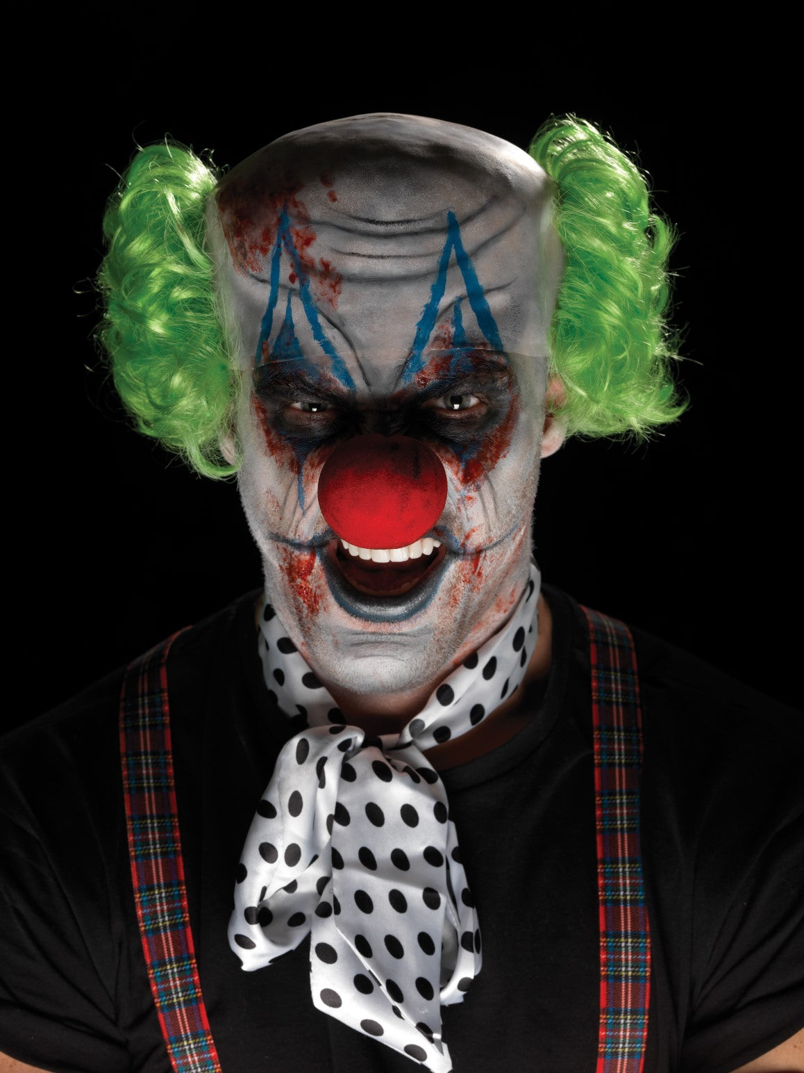 Multi Coloured Sinister Clown Make-Up Kit - Party Savers