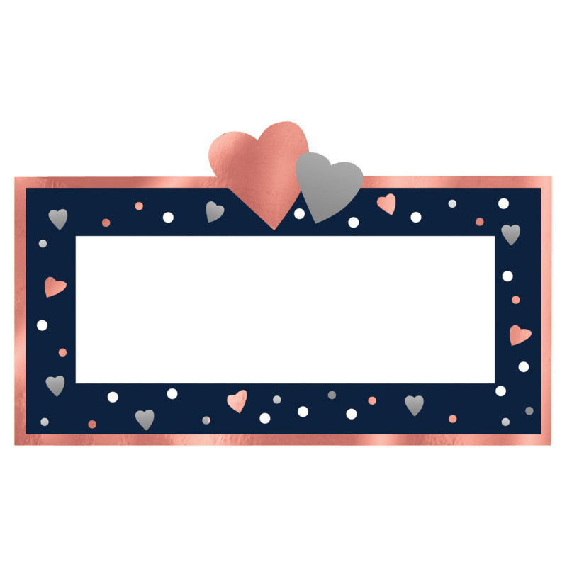 Navy Bride Place Cards 5cm x 10cm 25pk - Party Savers