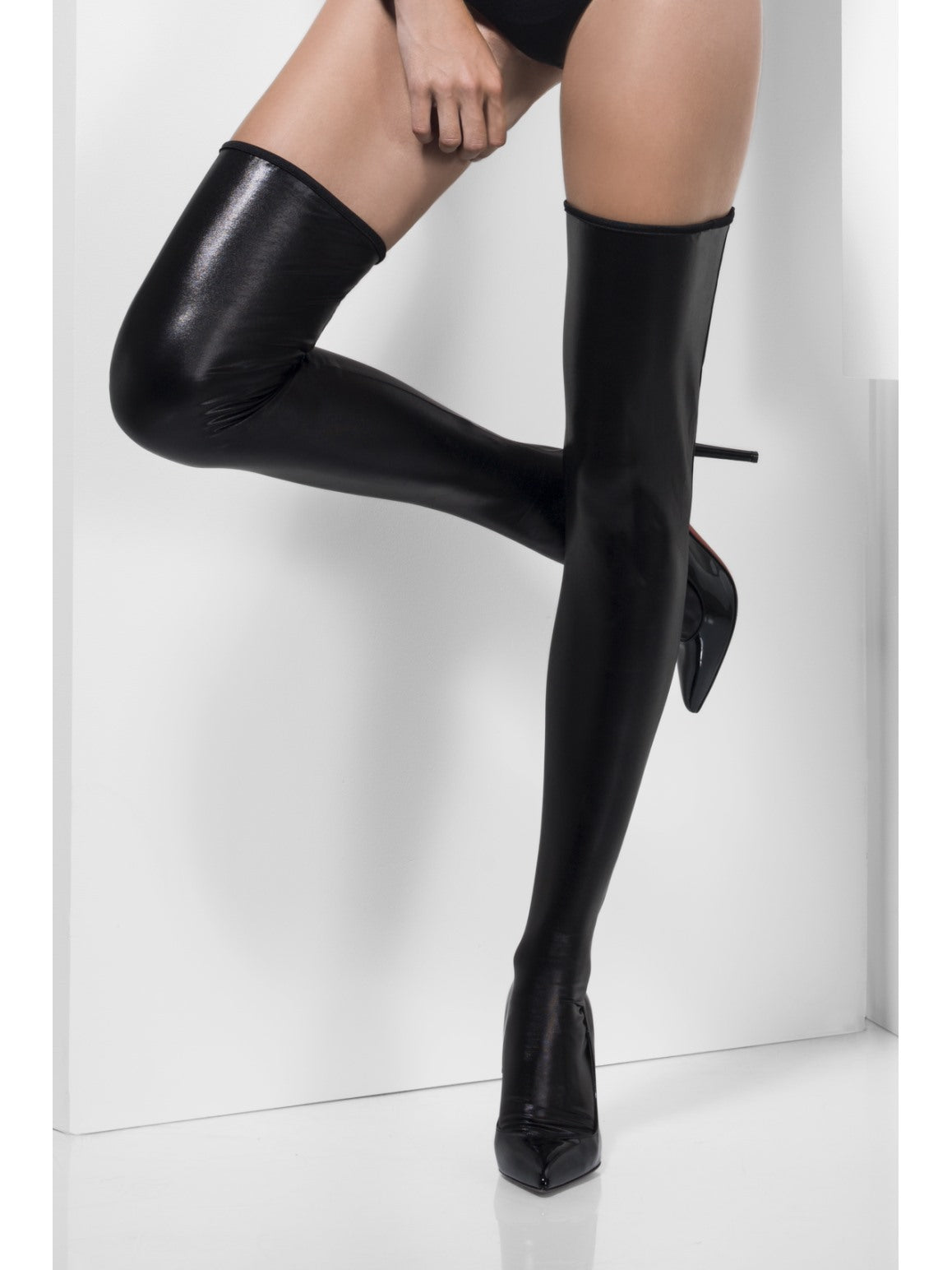 Black Wet Look Hold-Ups