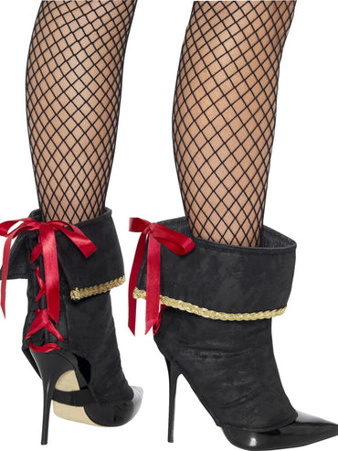 Black Pirate Boot Covers - Party Savers