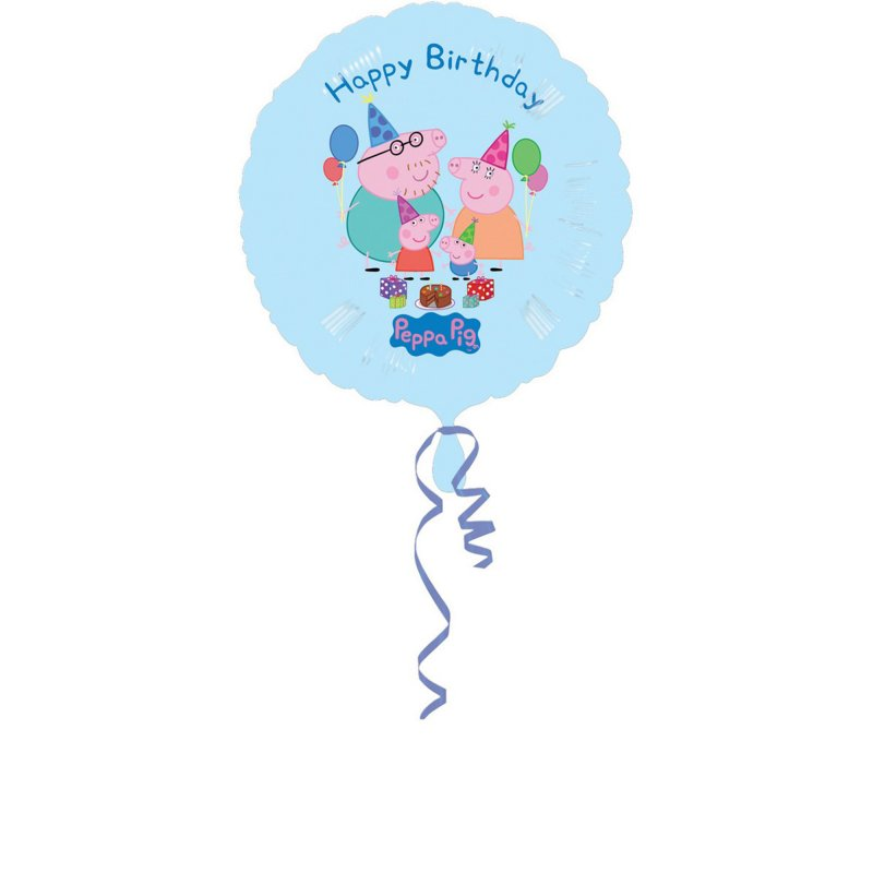 Peppa Pig Happy Birthday Foil Balloon 45cm - Party Savers