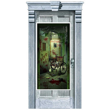 asylum-corridor-of-doors-plastic-door-decorations