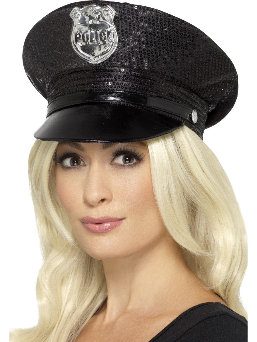 Sequin Police Hat - Party Savers