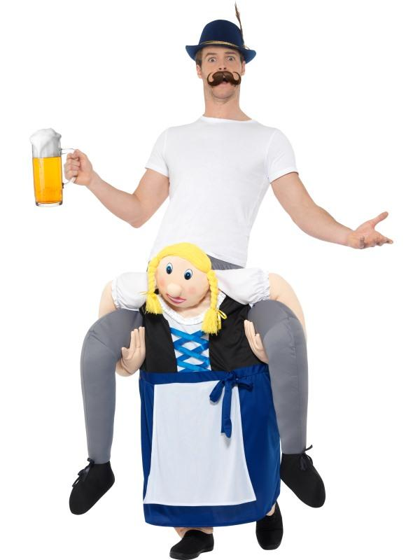 Mens Costume - Piggyback Bavarian Beer Maiden