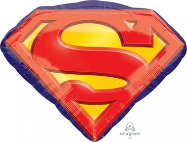 Superman Emblem SuperShape Foil Balloon 66cm