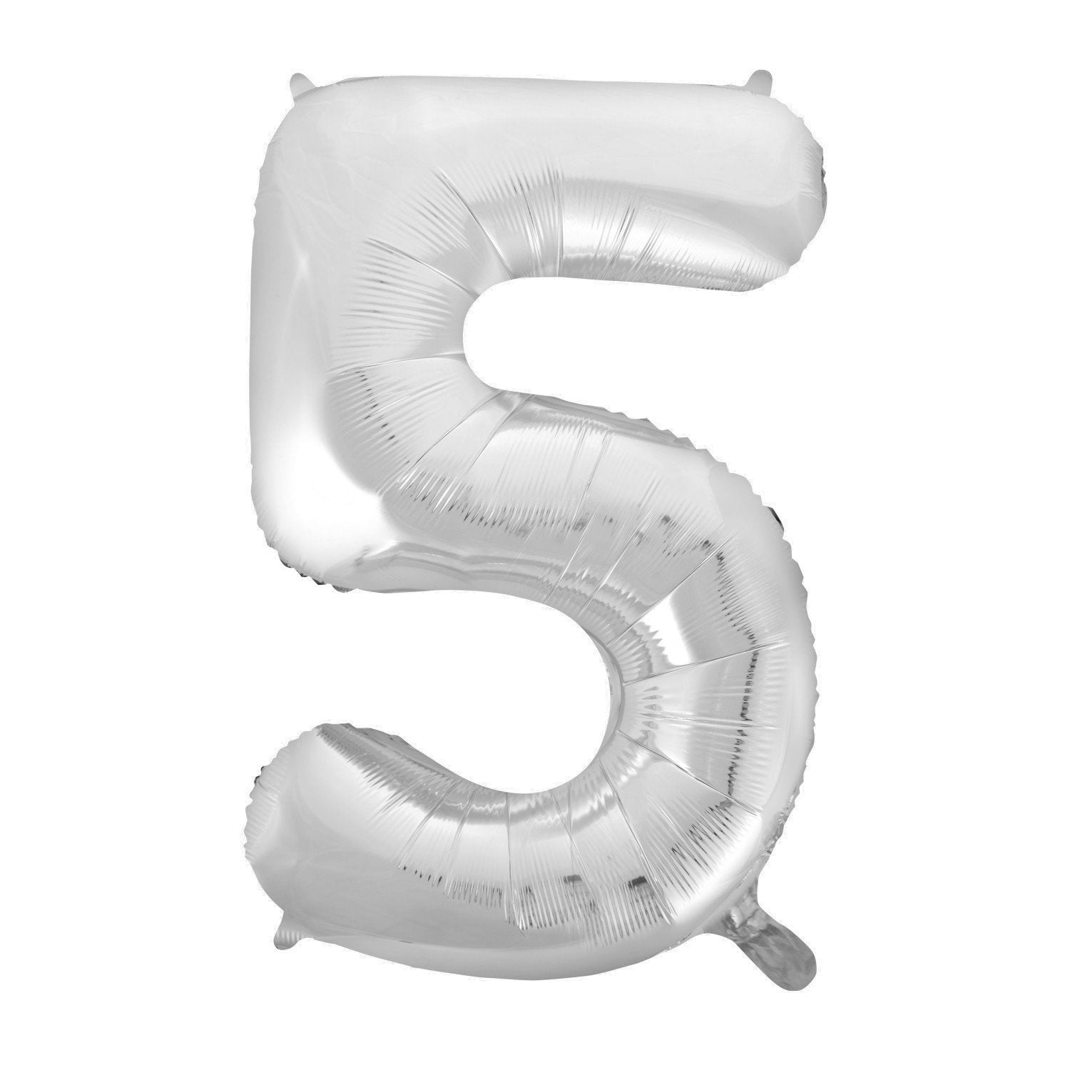 Number 5 Silver Foil Balloon 86cm