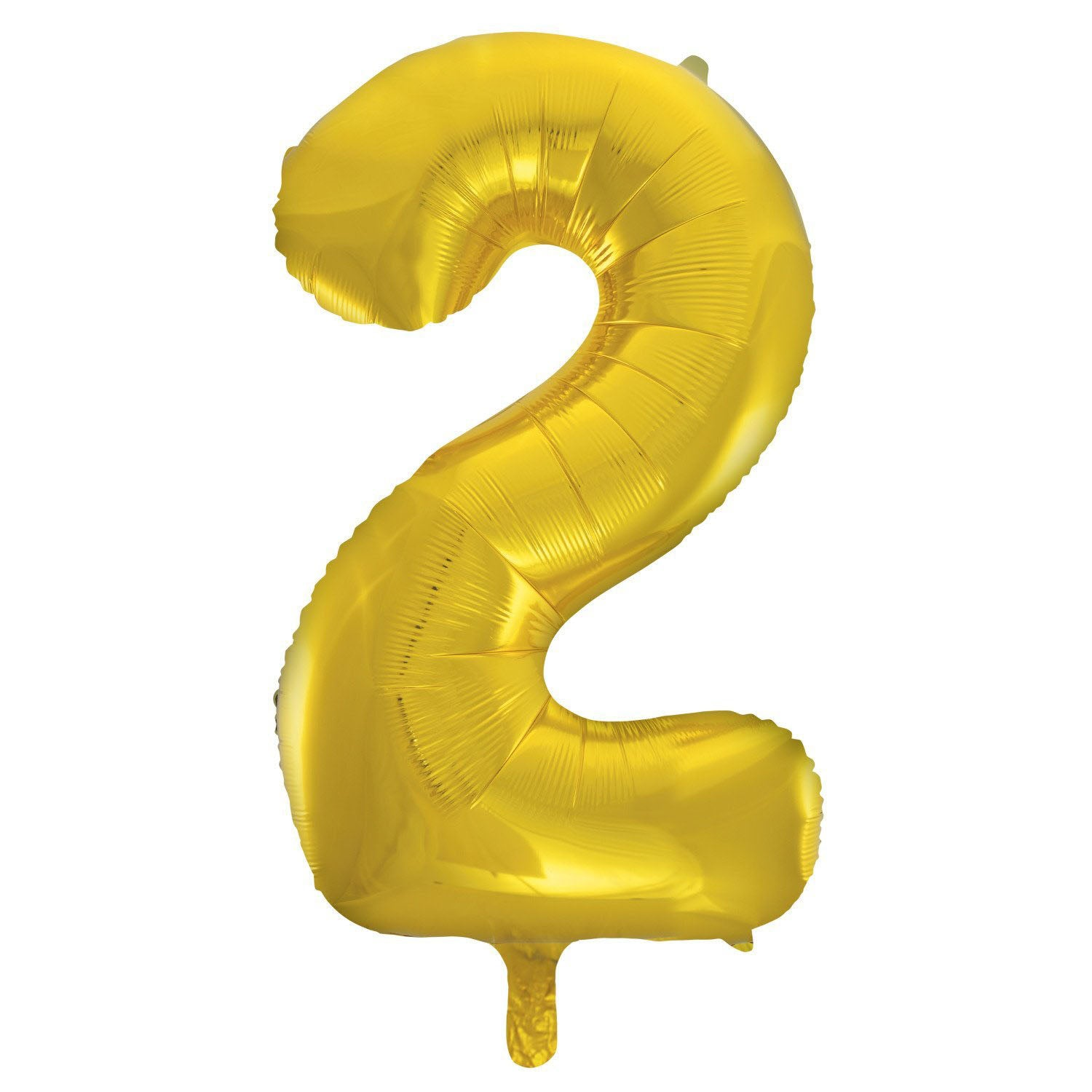 Number 2 Gold Foil Balloon 86cm