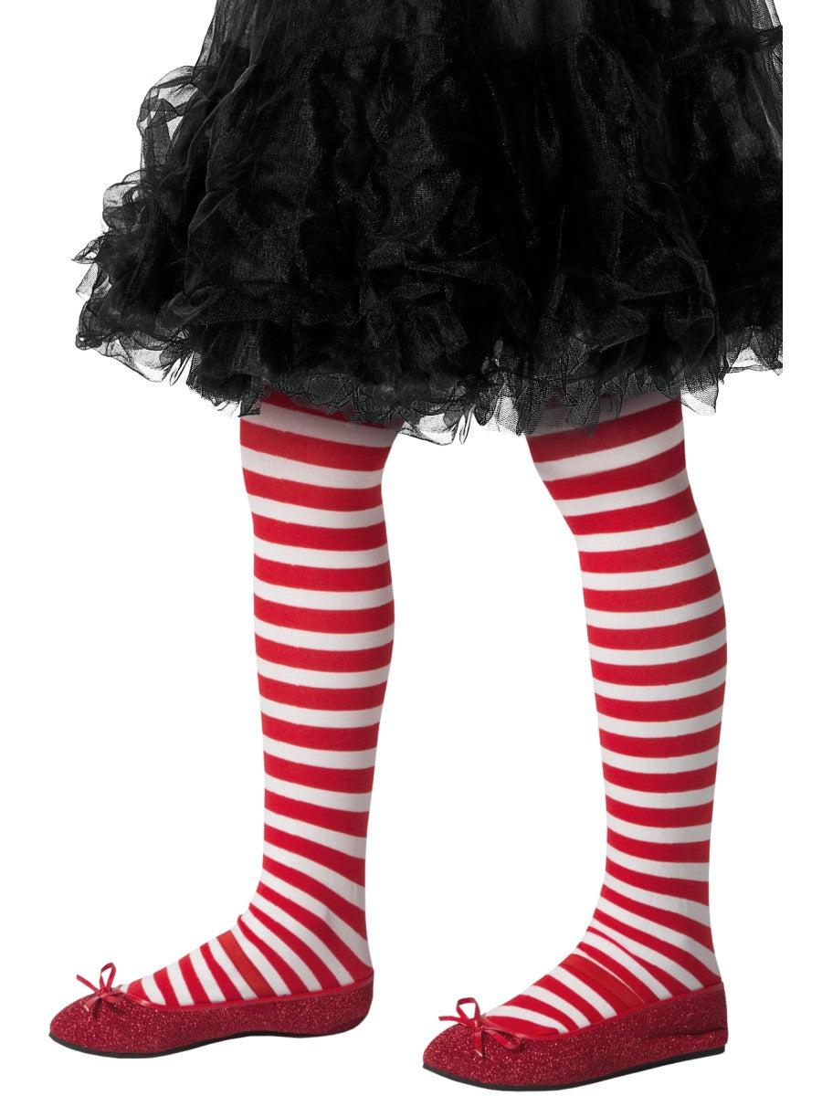 Red Striped Tights - Party Savers