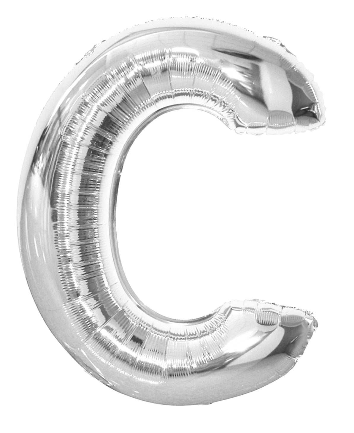 Letter C Silver Foil Balloon 86cm - Party Savers