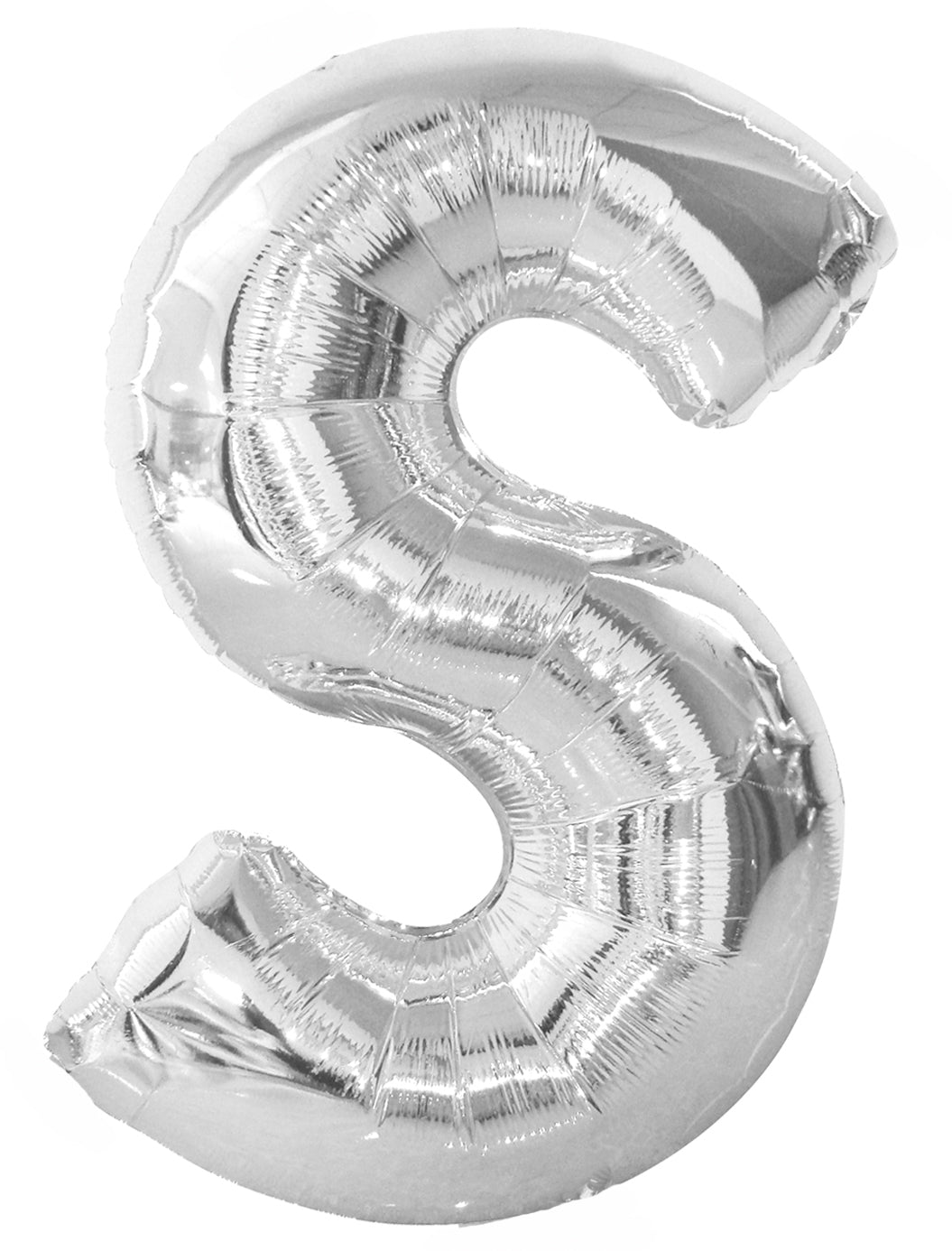 Letter S Silver Foil Balloon 86cm - Party Savers