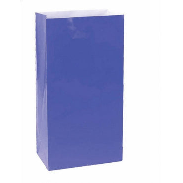 Bright Royal Blue Large Paper Bag 12pk
