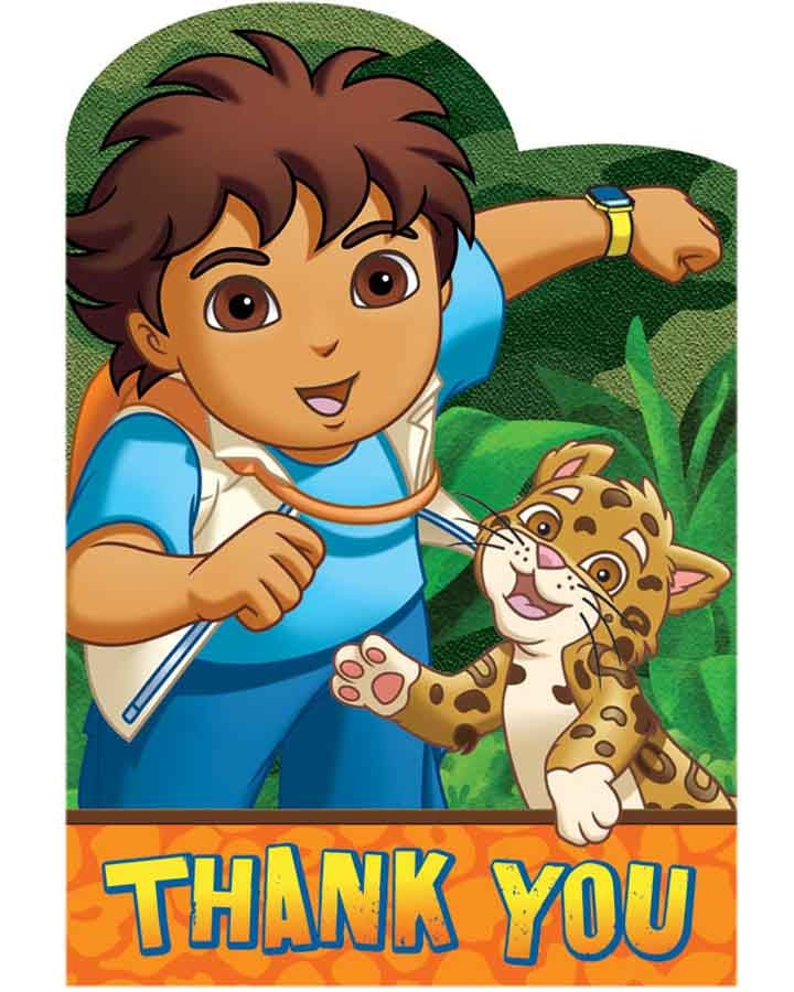 Diegos Big Rescue Postcard Thank You