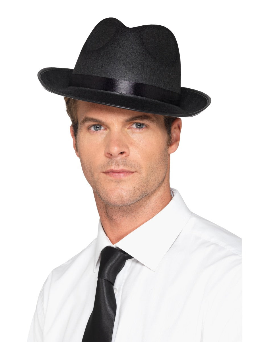 Black Men's Fedora Hat