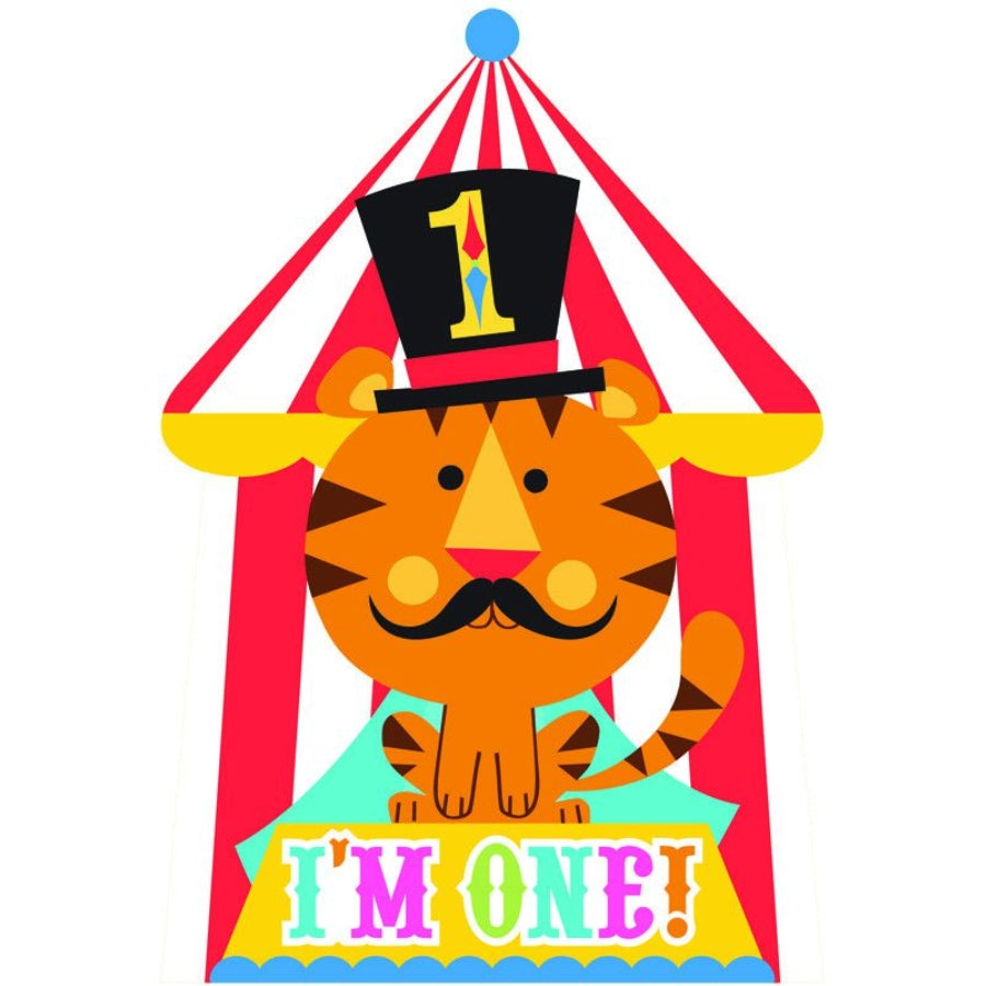 Fisher Price 1st Birthday Circus Invitations 8pk