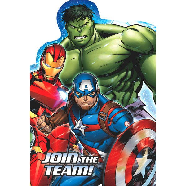 Avengers Epic Postcard Invitations 8pk