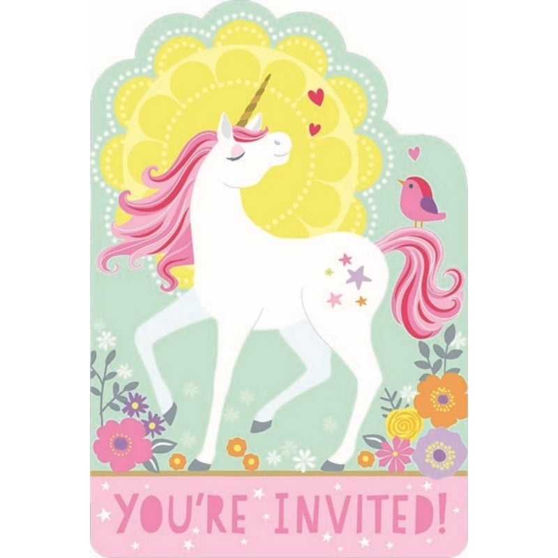 Magical Unicorn Postcard Invititaitons 8pk