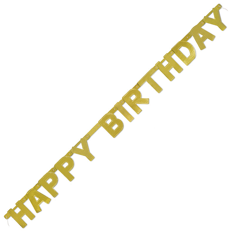 Gold Happy Birthday Jointed Banner