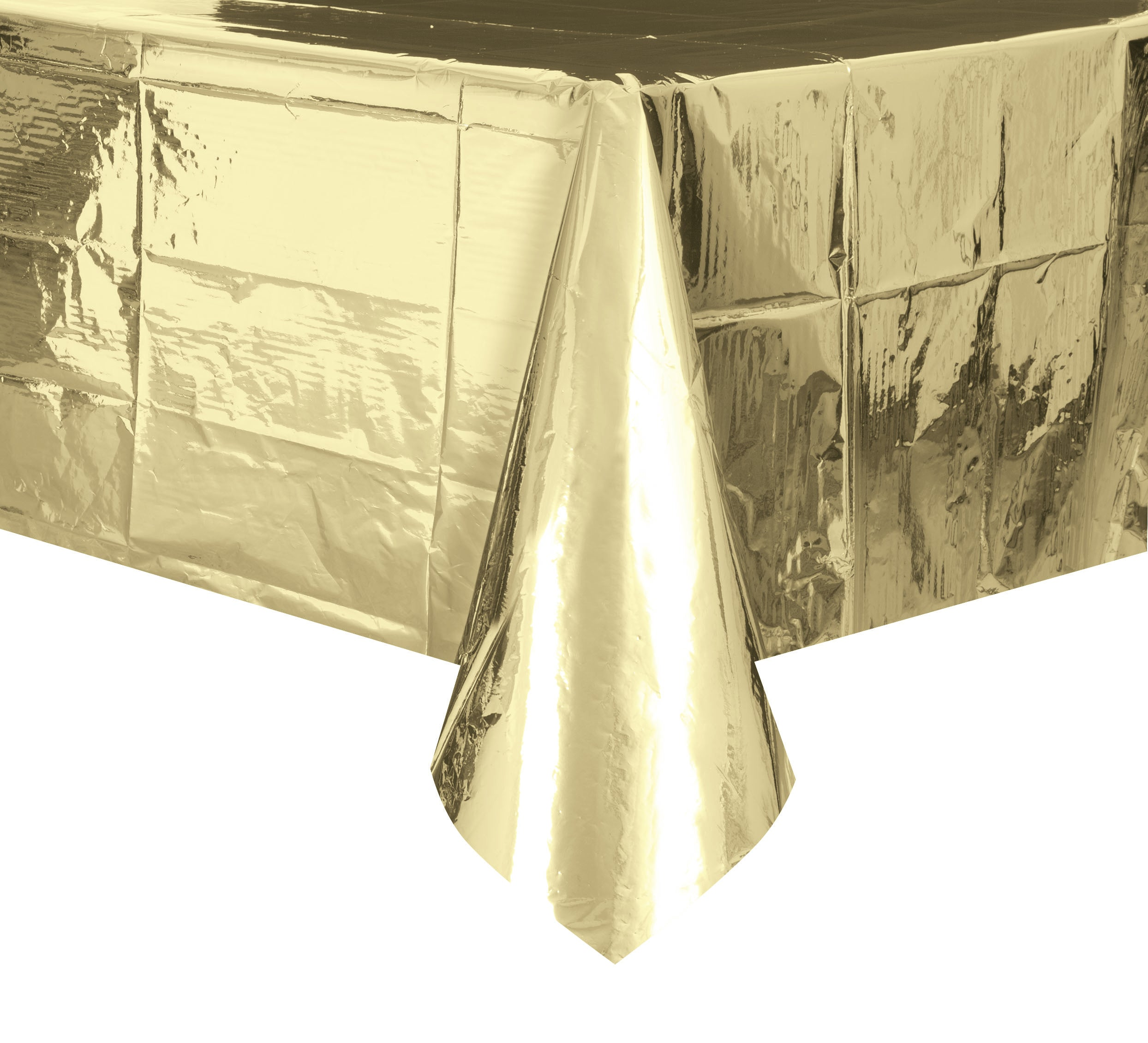 Metallic Gold Plastic Rectangle Tablecover 137cm x 274cm