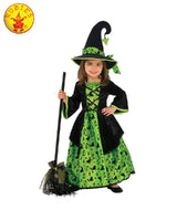 Girls Costume - Green Witch